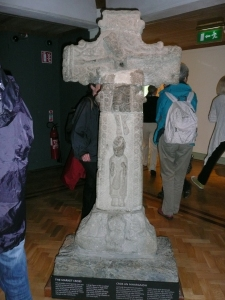 Market cross (front), Glendalough visitor center