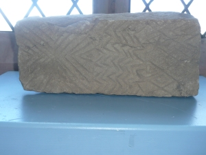 Test carving, St. Michael's church, Workington