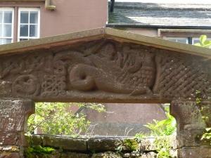 St. Bee's door lintel, dragon fight