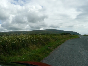 Toward Millom, coming around the Cumbrian mountains (note I did pull over!)