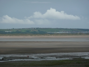 View from Haverig across the sands to Furness