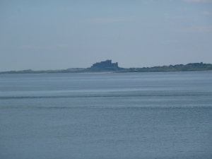 Bamburgh, seen from Lindisfarne