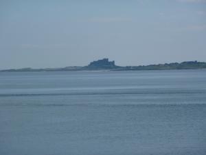 Bamburgh, seen from Lindisfarne