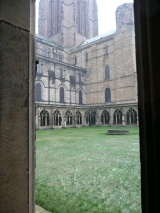Durham Cathedral Cloister in winter