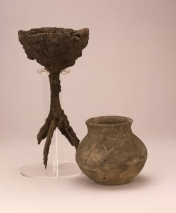 7th century iron lamp, Clobb's Row, British Museum (Woruldhord)